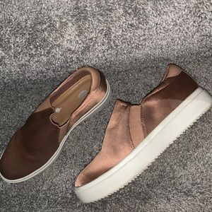 Rose gold silk dr scholls Sneakers